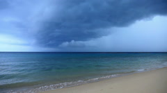 Thunder storm, Petani Beach, Perhentian Kecil,  Perhentian Islands, Malaysia - stock footage