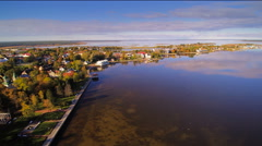 The small town along the river in Haapsalu Stock Footage
