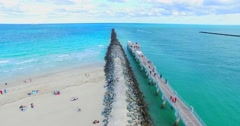 Government Cut canal. Entrance to Miami from Atlantic Ocean. - stock footage
