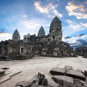 Angkor Wat Cambodia. Angkor Thom khmer temple. Travel landmark - stock photo