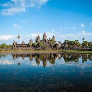 Angkor Wat Cambodia. Angkor Thom khmer temple. Travel landmark Stock Photos
