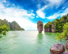 Panoramic view of James Bond island in Phang Nga bay, Thailand Kuvituskuvat