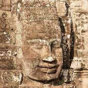 Sculpture on temple wall of Angkor Wat in Cambodia Stock Photos