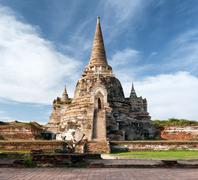 Ayutthaya Thailand - ancient city and historical place. Wat Phra Si Sanphet Stock Photos