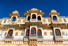 Traditional architecture in Udaipur India Stock Photos
