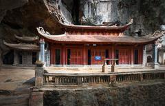 Bich Dong Pagoda in Ninh Binh Vietnam. Trung Pagoda (middle pagoda) Stock Photos