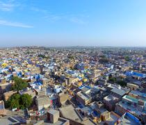 Aerial panorama of Jodhpur, Rajasthan - stock photo