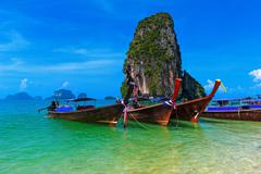 Travel nature landscape. Thailand sea cost tropical background Stock Photos