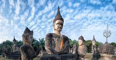 Laos landmarks and sightseeing - Buddha Park Stock Photos