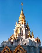 Phra Boromathat Chedi buddhist pagoda in Santikhiri village of Doi Mae Salong Stock Photos