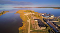 The industrial center of the Haapsalu town Stock Footage