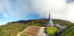 Doi Inthanon national park panorama in Chiang Mai, Thailand Stock Photos