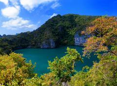Emerald lake Samui island travel destination Stock Photos