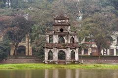 Beautiful ancient architecture in Vietnam, Hanoi Stock Photos