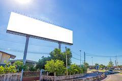 Stock Photo of large Blank billboard ready for new advertisement