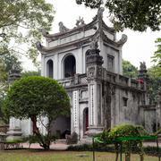 Ancient architecture of Hanoi - famous Temple of Literature Stock Photos