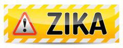 Zika virus danger sign with reflect and shadow on white background. Stock Illustration