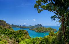 Ang Thong marine park panoramic view Stock Photos