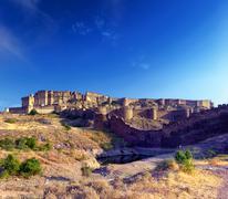 Mehrangarh fort in India, Rajasthan Stock Photos