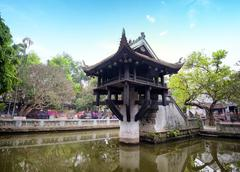 Hanoi, Vietnam - One Pillar Pagoda. Famous Buddhist temple and popular landmark Stock Photos