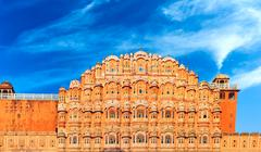 Hawa Mahal Palace in India, Rajasthan - stock photo