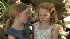 Two girls talking - stock footage