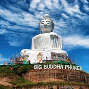 Thailand famous Big Buddha statue in Phuket Stock Photos