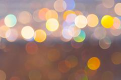 Abstract circular bokeh from light decoration for background - stock photo