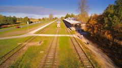 The old train station in Estonia Stock Footage