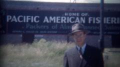 1946: Pacific American Fisheries packers of Alaskan canned salmon. BELLINGHAM, - stock footage