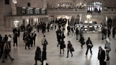 People on concourse in grand central station - stock footage