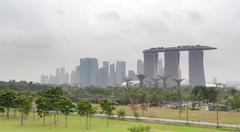 Bad rainy weather during monsoon season in Singapore Stock Photos