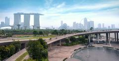 Singapore skyline and cityscape. Popular tourist travel destination Stock Photos