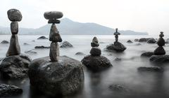 Stability and balance calm nature landscape - stock photo