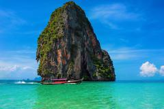 Beautiful summer sea scape of exotic travel destination in Thailand - stock photo