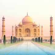 Taj Mahal world wonders temple of love in India Stock Photos