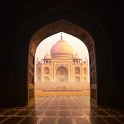 India Taj Mahal islam mosque - stock photo
