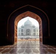 India Taj Mahal entrance arch Stock Photos