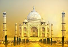 World wonder indian palace Taj Mahal in India Stock Photos