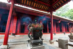 Stock Photo of Altar in Temple of literature in Hanoi