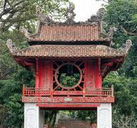 Temple of Literature in Hanoi Vietnam architecture details Stock Photos