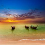 Thailand nature landscape. Tourism background with sea beach - stock photo
