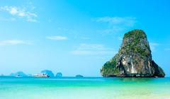 Idyllic tropical sea landscape background. Summer vacation Kuvituskuvat