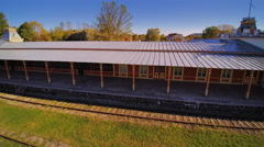The old train station in Haapsalu Stock Footage