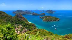 Angthong national marine park near Samui island in Thailand Stock Photos