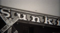 1946: Sunkist oranges company factory processing plant sign.  VILLA PARK, Stock Footage
