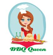 Stock Illustration of BBQ queen