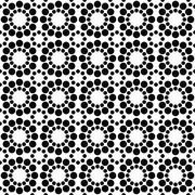 Black white seamless circle pattern design - stock illustration