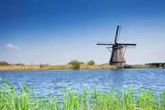 Stock Photo of Windmill for arrogation in Netherlands, Kinderdijk