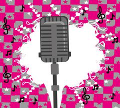 karaoke party design - stock illustration